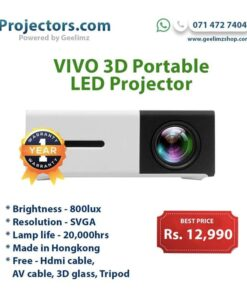 Vivo 3D Portable multimedia Smart Projector