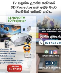 Lenovo 3D-HD-Smart TV Projector Full Set