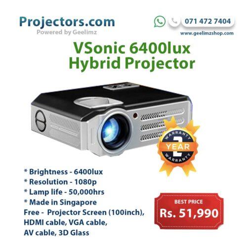 Vsonic 6400lm Hybrid Smart Projector